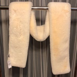 Lane Bryant cream/off white  faux fur wrap NWT